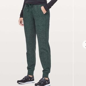 Lululemon Ready To Rulu Pant in Heathered Green
